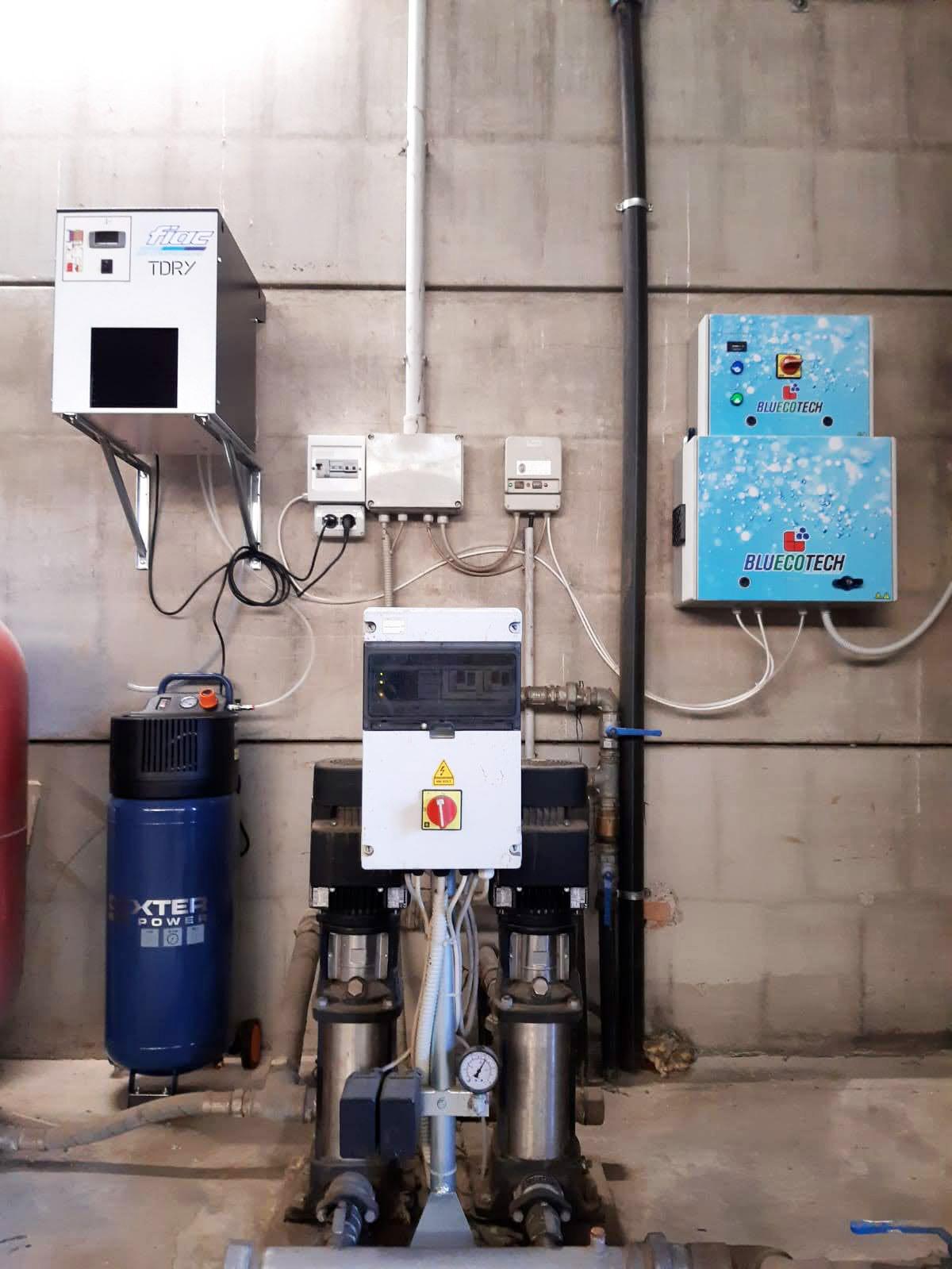 Impianto fisso per la produzione di ozono