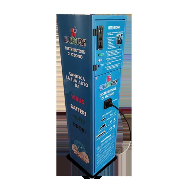 Distributore automatico di ozono per la sanificazione dei veicoli sanifi